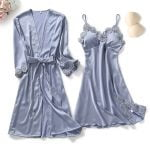 Lake Blue Robe Set12